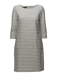 DRESS KNITTED FABRIC - IRON GREY MEL. PATTERNED