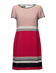 DRESS WOVEN FABRIC - RASPBERRY PINK STRIPE