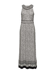 DRESS KNITTED FABRIC - BLACK PRINT