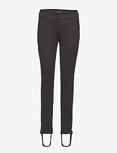 CROP LEISURE TROUSER - BLACK PATTERNED