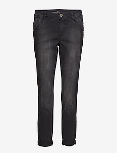 CROP TROUSERS JEANS - BLACK