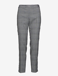 LEISURE TROUSERS LON - spodnie proste - gunmetal-melange patterned