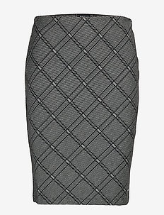 SKIRT KNITWEAR - BLACK PATTERNED