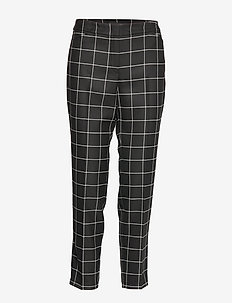 CROP LEISURE TROUSER - spodnie proste - black patterned