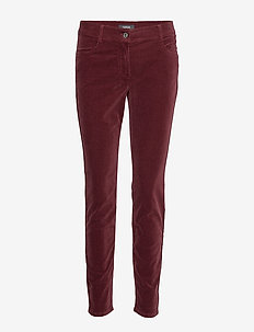 LEISURE TROUSERS LON - spodnie proste - ruby wine