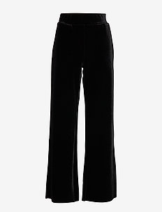 TROUSERS KNITTED FAB - BLACK