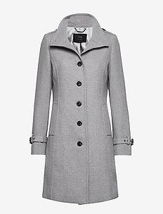 COAT WOOL - wool coats - graphite grey melange