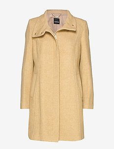 OUTDOORJACKET WOOL - LIGHT CAMEL MELANGE