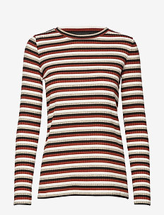 T-SHIRT LONG-SLEEVE - BURNT BRICK PATTERNED