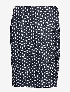 SKIRT KNITWEAR - pencil skirts - blue shadow patterned