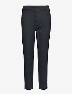 CROP LEISURE TROUSER - slim fit spodnie - navy
