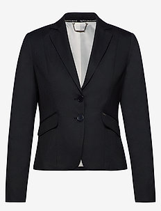 BLAZER LONG-SLEEVE - blazers - navy