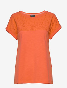 T-SHIRT SHORT-SLEEVE - t-shirts - tigerlilly orange