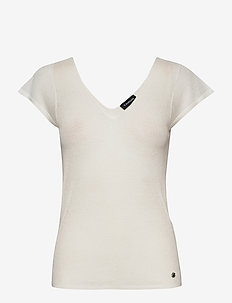 TOP KNITWEAR - getrickte tops & t-shirts - offwhite