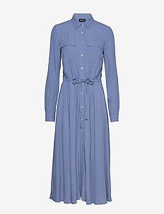 DRESS WOVEN FABRIC - shirt dresses - cornflower blue
