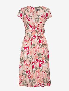 DRESS WOVEN FABRIC - do kolan & midi sukienki - apricot blush patterned