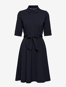 DRESS WOVEN FABRIC - shirt dresses - blue shadow