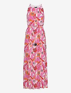 DRESS WOVEN FABRIC - maxi sukienki - pink sugar patterned