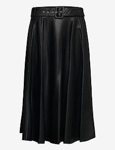 SKIRT LONG WOVEN FAB - spódnice długie - black