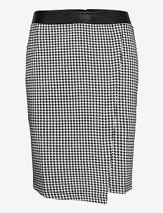 SKIRT KNITWEAR - midi kjolar - black patterned