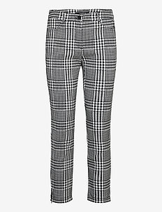 CROP LEISURE TROUSER - casual trousers - black patterned