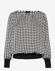 BLOUSE LONG-SLEEVE - långärmade blusar - black patterned