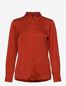 BLOUSE LONG-SLEEVE - långärmade blusar - carmine red
