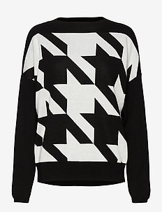 PULLOVER LONG-SLEEVE - gensere - black patterned