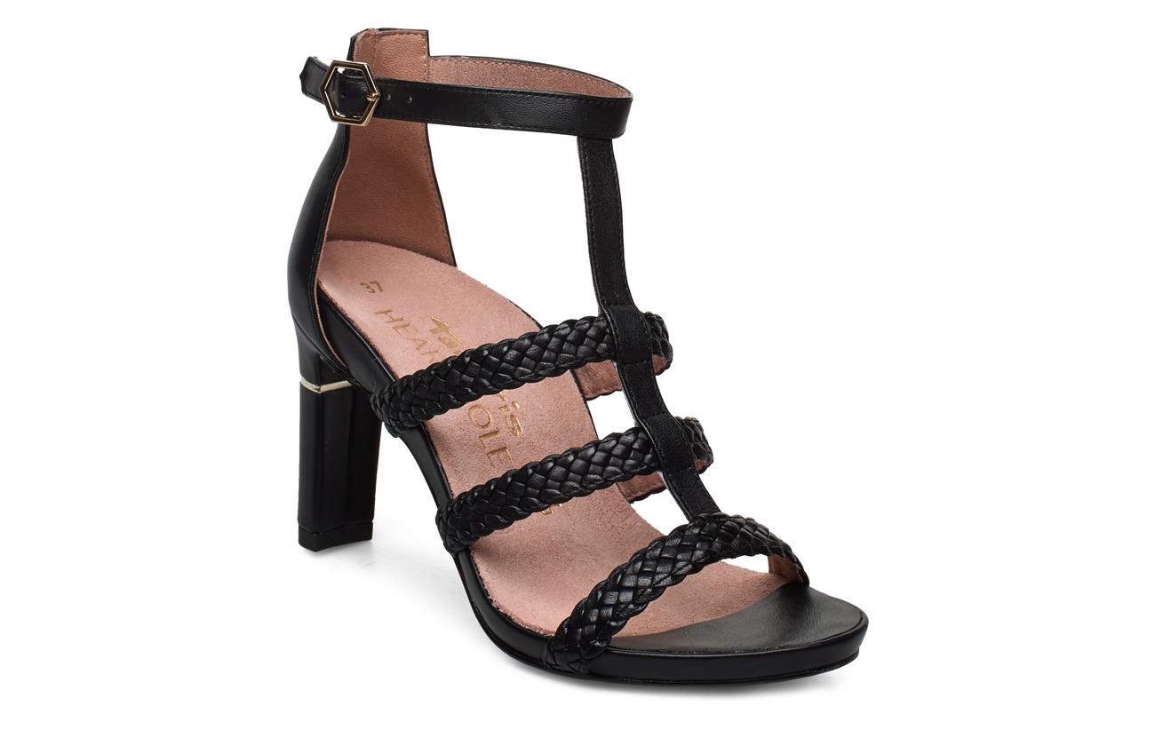 Tamaris Heart & Sole Woms Sandals - BLACK