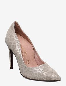 Woms Court Shoe - BEIGE LEOPARD