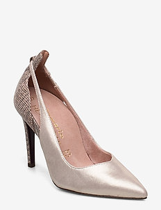 Woms Court Shoe - CHAMPAGNE/STR.