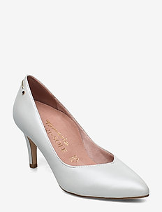 Woms Court Shoe - WHITE PEARL