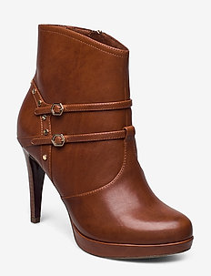 Woms Boots - wysoki obcas - cognac