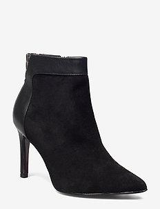 Woms Boots - BLK/LEOP.COMB