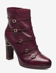 Woms Boots - stiefeletten mit absatz - bordeaux