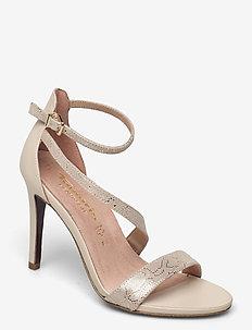 Woms Sandals - sandalen met hak - lt.gold str.