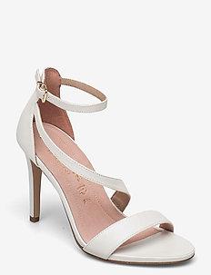 Woms Sandals - sandalen met hak - white pearl