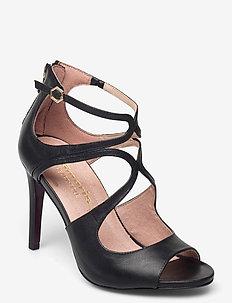 Woms Slip-on - heeled sandals - black