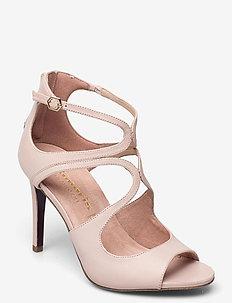 Woms Slip-on - sandalen met hak - nude