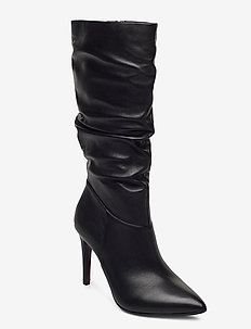 Woms Boots - høye boots - black leather