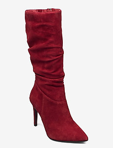 Woms Boots - høye boots - ruby