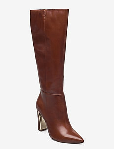 Woms Boots - høye boots - brandy