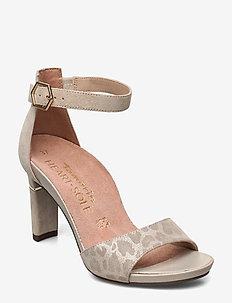 Woms Sandals - sandalen mit absatz - beige/structur
