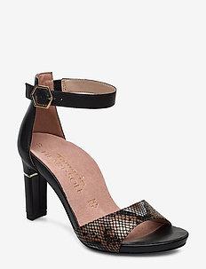 Woms Sandals - sandalen mit absatz - blk leath/str.