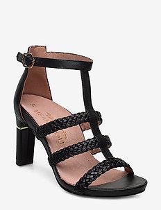 Woms Sandals - sandalen mit absatz - black