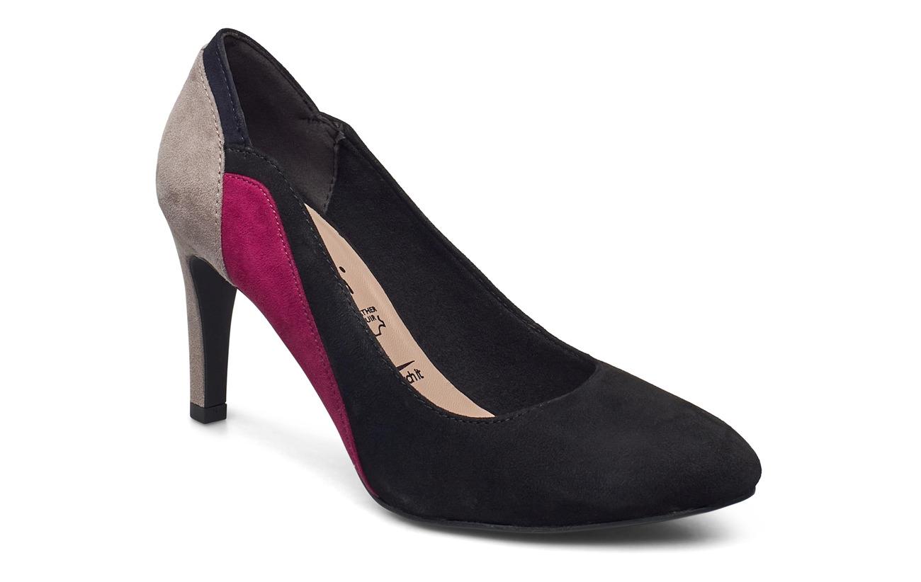 Tamaris Woms Court Shoe - BLACK COMB