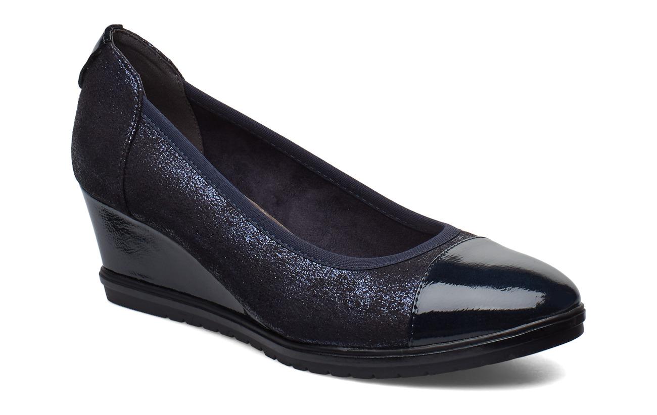 Tamaris Woms Court Shoe - NAVY GLAM