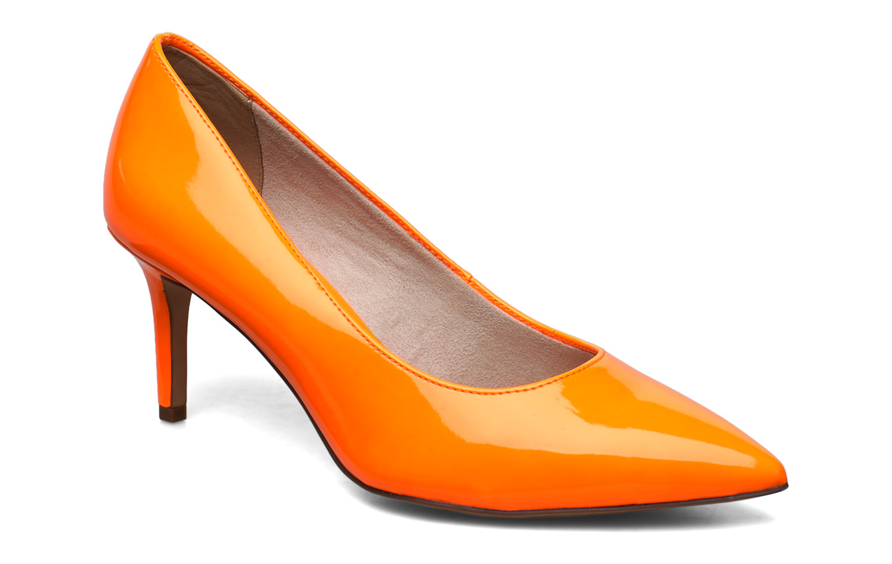 Tamaris Woms Court Shoe - ORANGE NEON