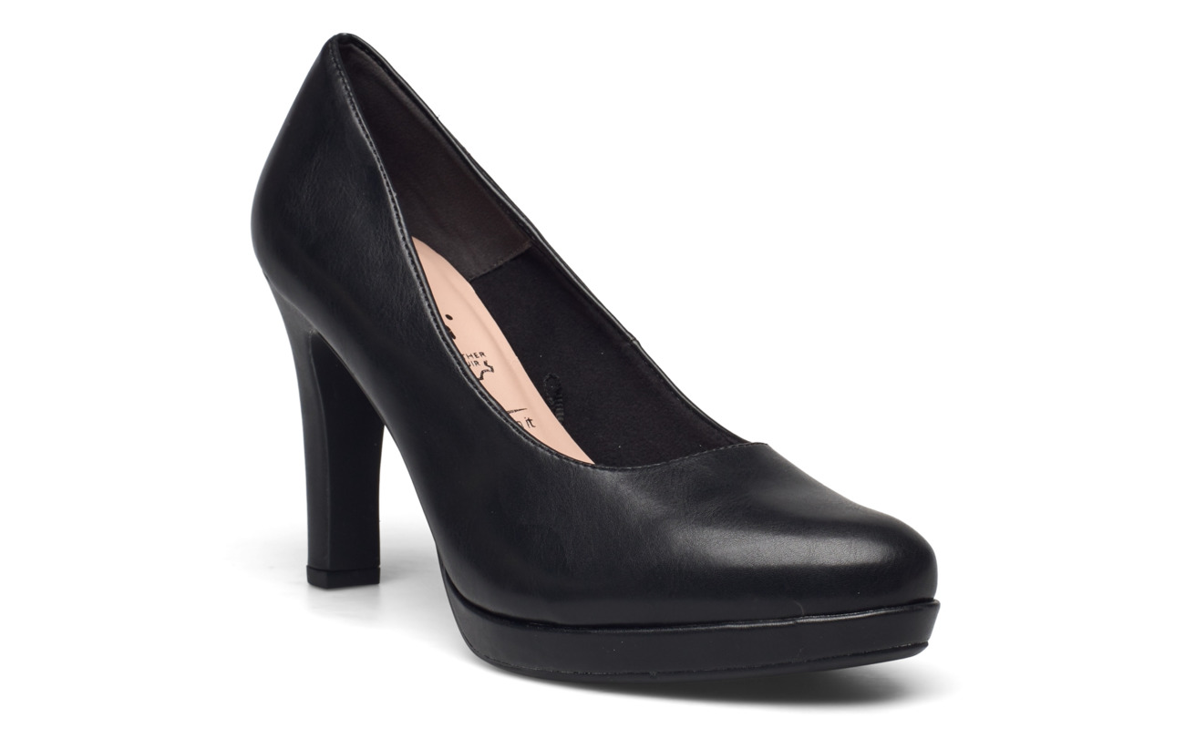 Tamaris Woms Court Shoe - BLACK MATT
