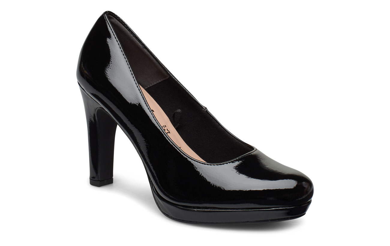 Tamaris Woms Court Shoe - BLACK PATENT